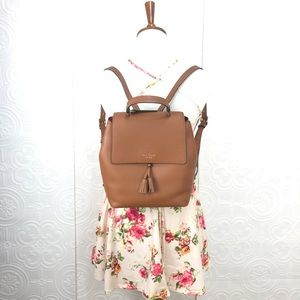🌸OFFERS?🌸Kate Spade Leather Brown Backpack🎒 New